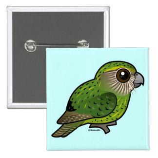 Birdorable Kakapo 15 Cm Square Badge