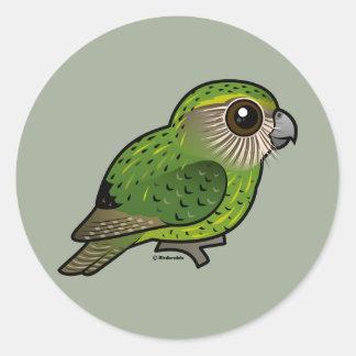 Birdorable Kakapo Round Sticker