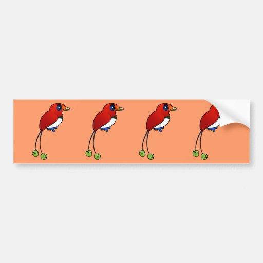 Birdorable King Bird-of-paradise Bumper Stickers