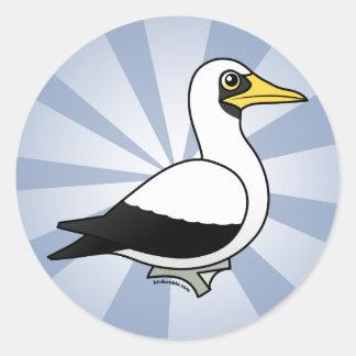 Birdorable Masked Booby Round Sticker