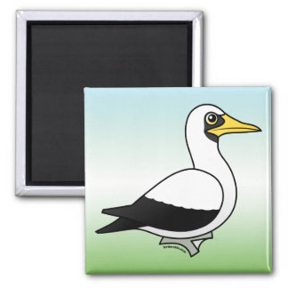 Birdorable Masked Booby Square Magnet