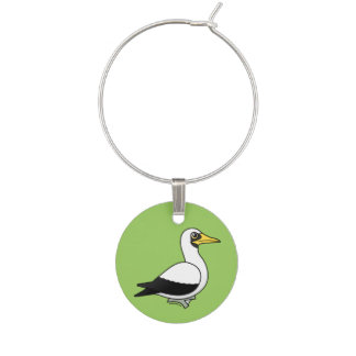 Birdorable Masked Booby Wine Glass Charms