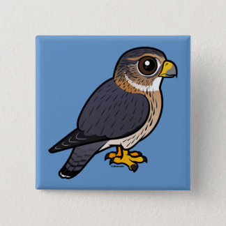 Birdorable Merlin 15 Cm Square Badge