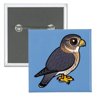 Birdorable Merlin 15 Cm Square Badge