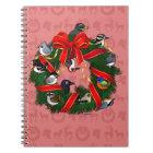 Birdorable NA Backyard Birds Christmas Wreath Notebook