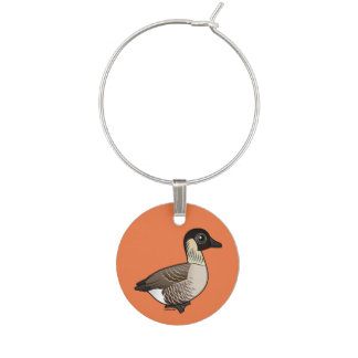 Birdorable Nene Wine Glass Charm