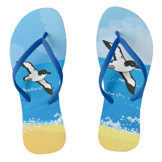 Birdorable Newell's Shearwater flight Flip Flops