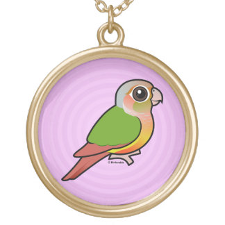 Birdorable Pineapple Green-cheeked Conure Gold Plated Necklace