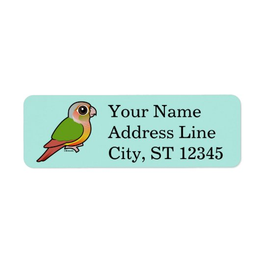Birdorable Pineapple Green-cheeked Conure Return Address Label