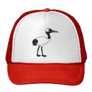 Birdorable Red-crowned Crane Trucker Hat