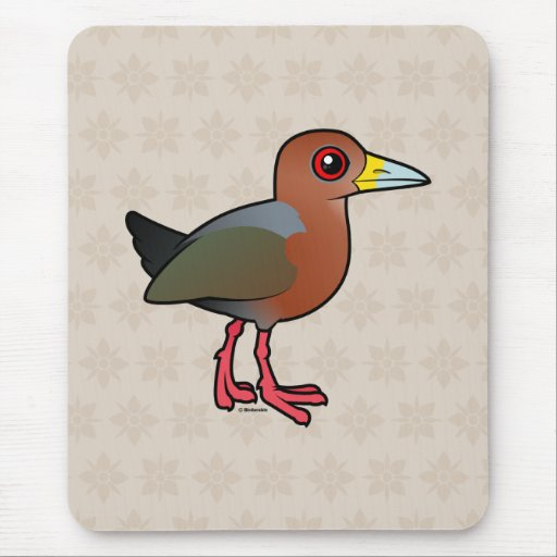 Birdorable Rufous-necked Wood-Rail Mousepads