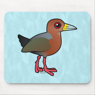 Birdorable Rufous-necked Wood-Rail Mouse Pad