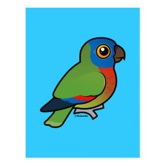 Birdorable Saint Lucia Parrot Postcard
