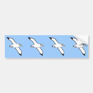 Birdorable Shy Albatross in flight Bumper Sticker