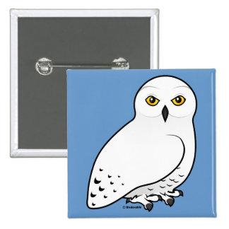 Birdorable Snowy Owl Pinback Button
