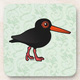 Birdorable Sooty Oystercatcher Drink Coaster