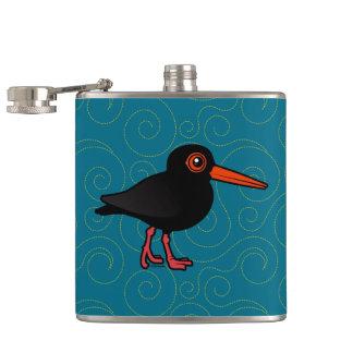 Birdorable Sooty Oystercatcher Hip Flasks