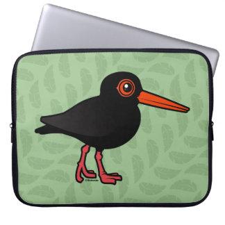 Birdorable Sooty Oystercatcher Laptop Computer Sleeves