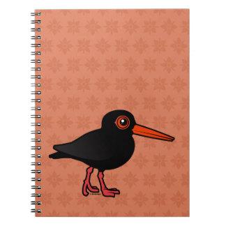 Birdorable Sooty Oystercatcher Spiral Note Book