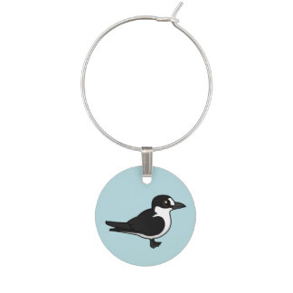 Birdorable Sooty Tern Wine Charm