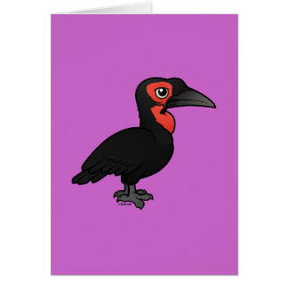 Birdorable Southern Ground Hornbill Card