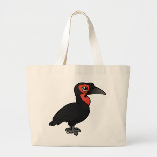 Birdorable Southern Ground Hornbill Large Tote Bag