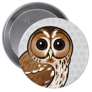 Birdorable Tawny Owl 10 Cm Round Badge