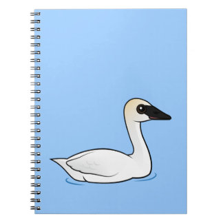Birdorable Trumpeter Swan Spiral Notebook