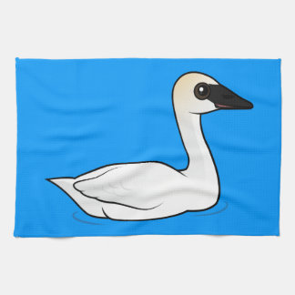 Birdorable Trumpeter Swan Tea Towel