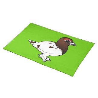 Birdorable Willow Ptarmigan, summer male Placemats