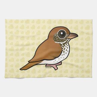 Birdorable Wood Thrush Tea Towel