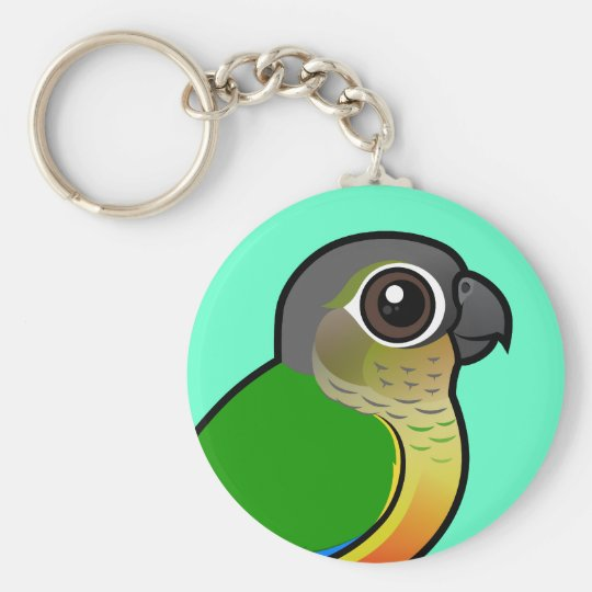 Birdorable Yellow-sided Conure Basic Round Button Key Ring