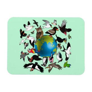 Birdorables Around the World Flexible Magnet