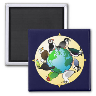 Birdorables of the World Square Magnet