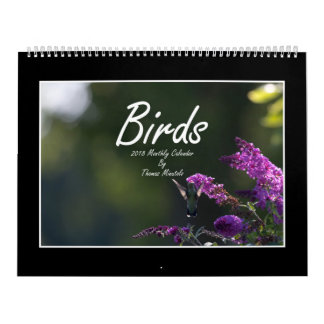 Birds 2018 Monthly Calendar By Thomas Minutolo