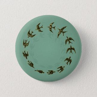 Birds 6 Cm Round Badge