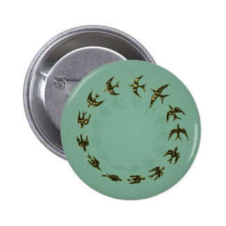 Birds 6 Cm Round Badge