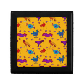 Birds - Abstract Purple Hawks & Blue Chickens Gift Boxes