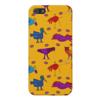 Birds - Abstract Purple Hawks & Blue Chickens Cases For iPhone 5