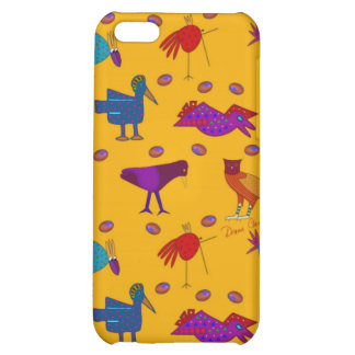 Birds - Abstract Purple Hawks & Blue Chickens iPhone 5C Cover
