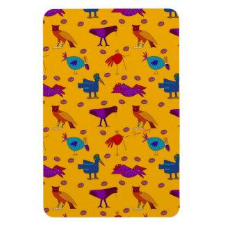 Birds - Abstract Purple Hawks & Blue Chickens Flexible Magnet