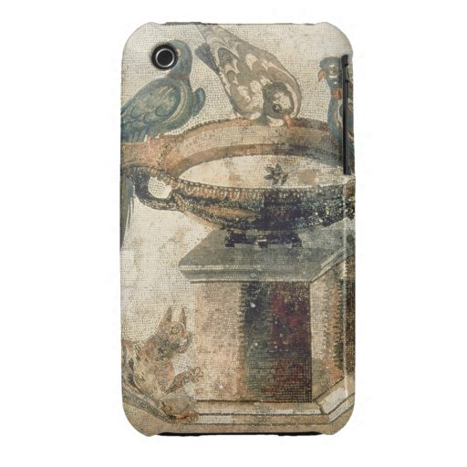 Birds and an ambushing cat, from Pompeii, 1st cent iPhone 3 Covers
