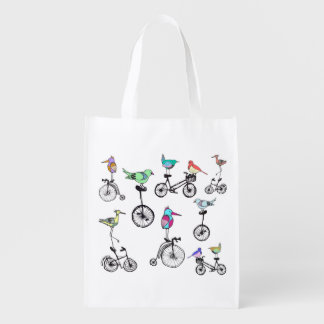 Birds and Bicycles Bag