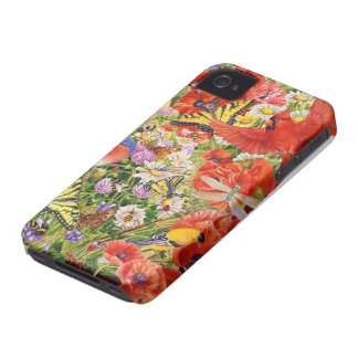 Birds and Butterflies iPhone 4 Barely There Case-Mate iPhone 4 Cases
