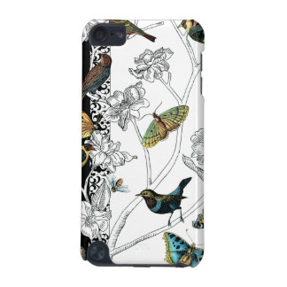 Birds and Butterfly on a Black & White Background iPod Touch 5G Case