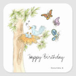 Birds and Butterfly Sticker
