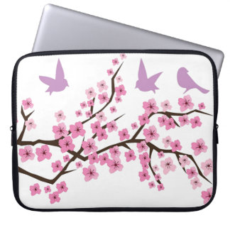 Birds and Cherry Blossoms Computer Sleeves