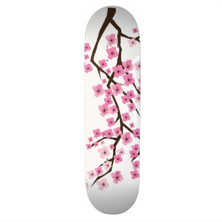Birds and Cherry Blossoms Custom Skate Board