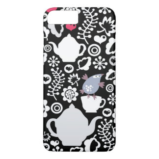 Birds and cups pattern iPhone 8 plus/7 plus case
