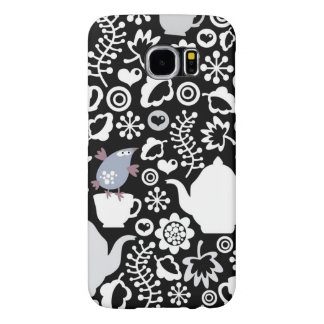 Birds and cups pattern samsung galaxy s6 cases